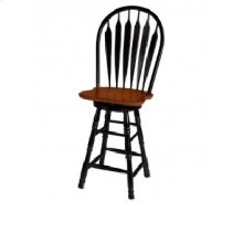 "DLU-B30-BCH  30"" Swivel Barstool  Antique Black and Cherry"