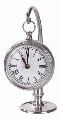 Pewter Finish Hanging Clock