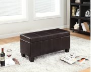7075 Brown Storage Bench Product Image