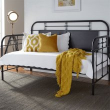 Twin Metal Day Bed - Black
