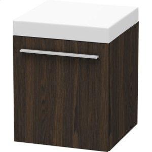 Mobile Storage Unit, Brushed Walnut (real Wood Veneer)