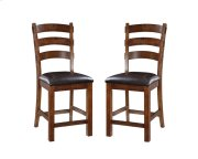 """Emerald Home Castlegate Barstool Bonded Leather Seat 24"""" Pine D942dc-24 Product Image"""
