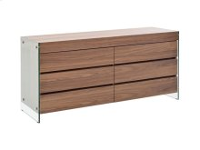 The Il Vetro Walnut Veneer Dresser