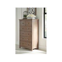 6-Drawer Chest in Taupe Gray