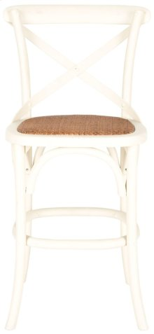 Franklin X Back Counterstool - Distressed Ivory