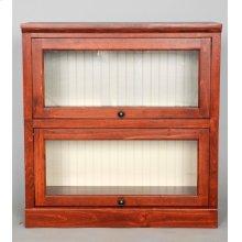 "#522-2 Lawyer Bookcase 2 piece 33""wx14""dx34""h"