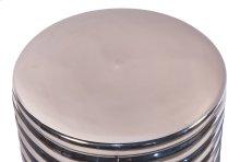 Silver Barrel Stool/Side Table