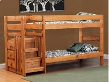 3322  Saddlebrook Twin over Twin Staircase Bunk Bed