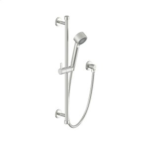 Satin Nickel Wallace (Series 15) Slide Bar with Hand Shower