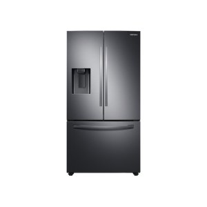 Samsung27 cu. ft. Large Capacity 3-Door French Door Refrigerator with External Water & Ice Dispenser in Black Stainless Steel
