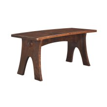 Yesterday River Curved Dining Bench