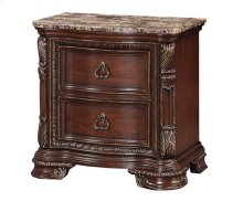 Riviera - Rich Cherry Two Drawer Nightstand W/marble Top