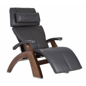 Perfect Chair PC-420 Classic Manual Plus - Gray Premium Leather - Walnut