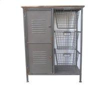 3 Drawer 1 Door Accent Cabinet-antique Black Finish-rta