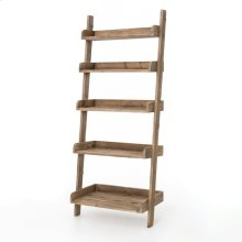 Henshaw Leaning Bookcase-bleached Pine