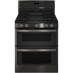 "GE ProfileGE PROFILEGE Profile™ 30"" Free-Standing Gas Double Oven Convection Range"
