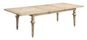 """Emerald Home Interlude Complete Dining Table W/28"""" Butterfly Leaf Sandstone D560-10-k"""