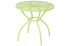 Martini Iron Mesh Bistro Table - Key Lime