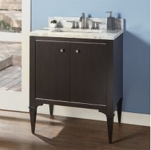 "Charlottesville w/Nickel 30"" Vanity - Door - Vintage Black"