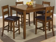 Plantation 5 Pack- Counter Height Table With 4 Stools