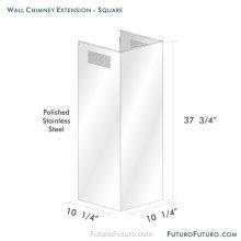 Chimney Extension - Wall Square, Range Hood
