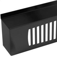 "24"" Black Decorative Grill for Universal Stacking Kit - Left Hinge"