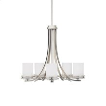 Hendrik Collection Hendrik 5 Light Chandelier - Brushed Nickel