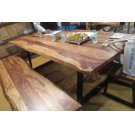 Jamestown Rustic Grey Bench Product Image