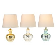 3pc. ppk. Antique Mercury Finish Accent Lamp. 40W max. (3 pc. ppk.)