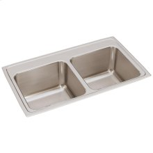 "Elkay Lustertone Classic Stainless Steel 33"" x 19-1/2"" x 10-1/8"", Equal Double Bowl Drop-in Sink"