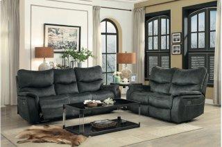 Goby Power Reclining Sofa w/ Adjustable Headrests