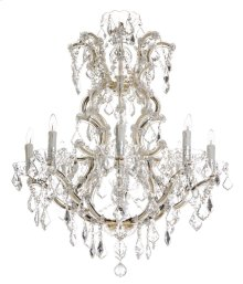 Celene Crystal Chandelier - Gold