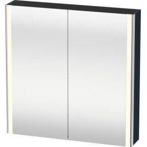 Mirror Cabinet, Night Blue Satin Matt Lacquer