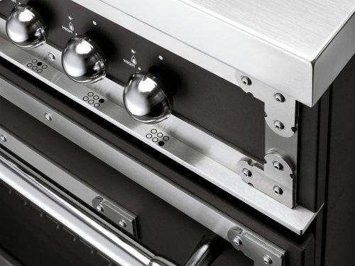 48 inch 6-Burner + Griddle, Gas Double Oven Matt Black