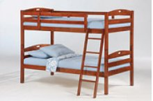 Sesame Twin Twin Bunk in Cherry Finish