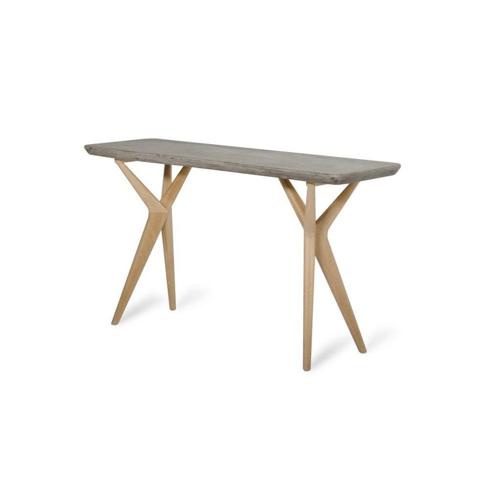 Moderst Dondi Modern Concrete & Oak Console Table