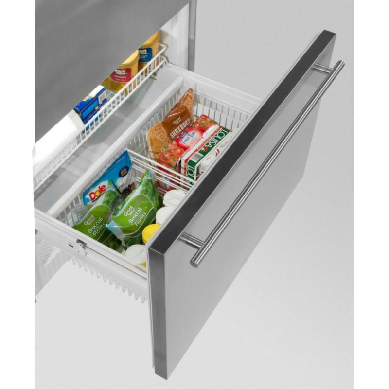 stainless compressed steel in freezer drawer refrigerator n the depot appliances monochromatic refrigerators home bottom b