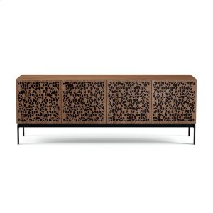 Quad Cabinet With Console Base in Mosaic Doors Natural Walnut -