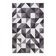 Kahula Geometric Triangle Mosaic 8x10 Area Rug in Black, Gray and White