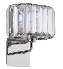Athena 11-inch Wall Sconce - Nickel / Clear