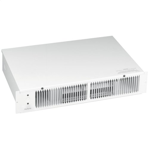 Kickspace Heater, White, 1500W 240VAC, 750/1500 W 120 VAC, Without Built-in Thermostat.