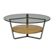 Leeward Round Cocktail Table with Glass Top