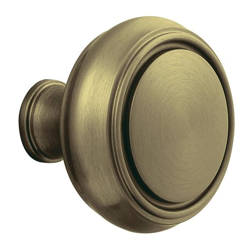 Satin Brass and Black 5068 Estate Knob