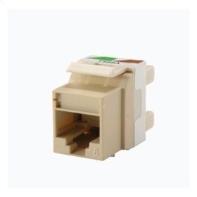 Category 6 Keystone jack, Electrical Ivory