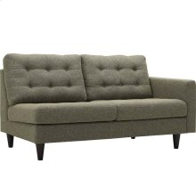 Empress Right-Facing Upholstered Fabric Loveseat in Oatmeal