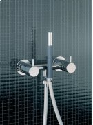 Two-handle build-in mixer with hand shower and holder with non-return valve 1670, 2 pcs - Grey Product Image