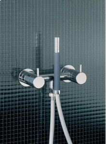 Two-handle build-in mixer with hand shower and holder with non-return valve 1670, 2 pcs - Grey