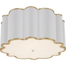 Visual Comfort AH4021WHT/G-FA Alexa Hampton Markos 4 Light 26 inch White with Gild Flush Mount Ceiling Light, Grande