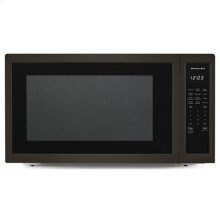 """KitchenAid® 24"""" Countertop Microwave Oven with PrintShield™ Finish - 1200 Watt - Black-on-Stainless"""