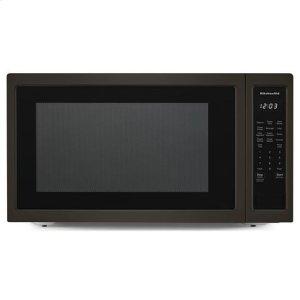 "KITCHENAIDKitchenAid(R) 24"" Countertop Microwave Oven with PrintShield(TM) Finish - 1200 Watt - Black-on-Stainless"